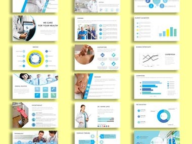 Pitch Deck Template For Heath Care Business