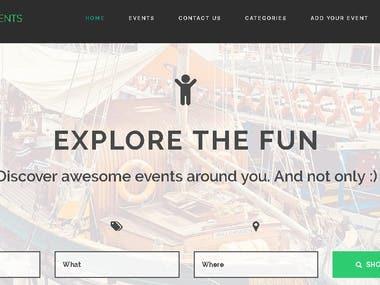 Real Estate Events Website