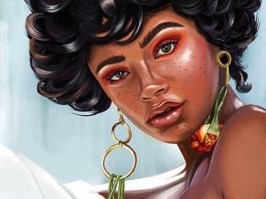 Digital Portrait | Fashion Girl