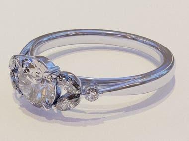 Diamond ring modeling