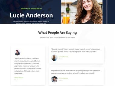 Personal blog website: Wordpress