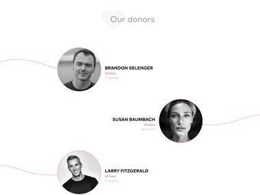 Blood Donation Website Design and Development