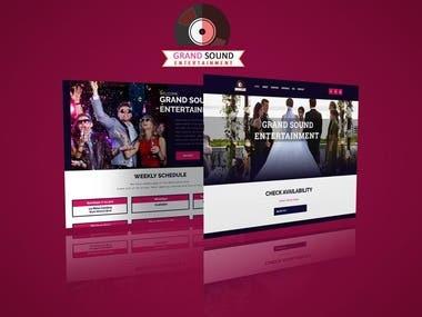 GrandSound - Event & Music Website - Design and Development