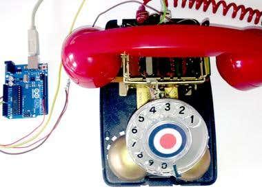 Arduino playing .WAV Files via 1970's GPO Telephone