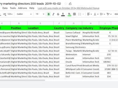 São Paulo Brazil any industry marketing directors List