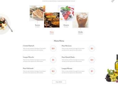 Nutriment - Restaurant PSD Template