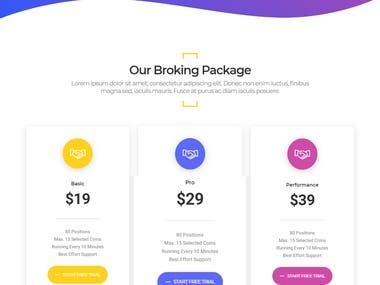 Cryptonic HTML Template