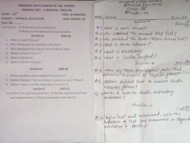 To convert handwritten mathematical equation question paper