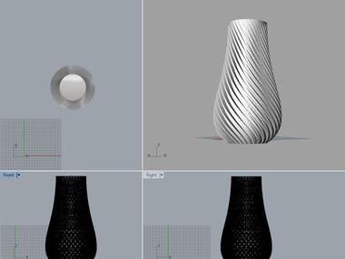3D vase modeling for 3D printing