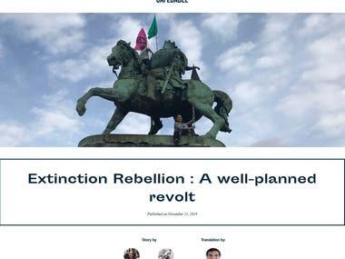 Exctinction Rebellion: A well-planned revolt