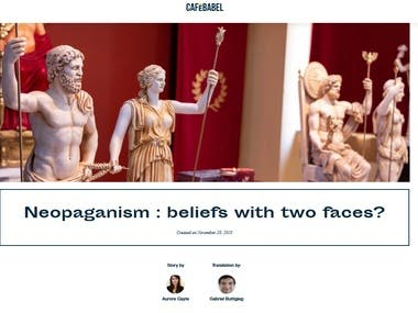 Neopaganism : beliefs with two faces?