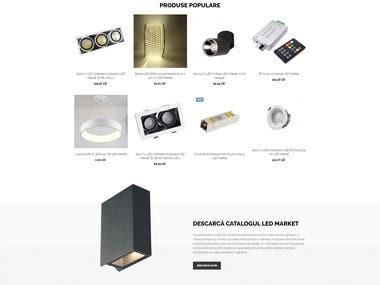 Design and developing site https://ledmarket.eu