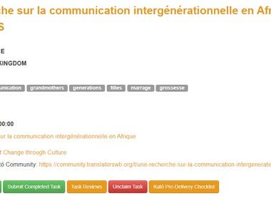 Research on intergenerational communication in Africa