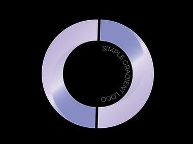 Simple gradient logo