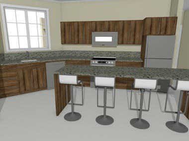 3D Interior design - kitchens