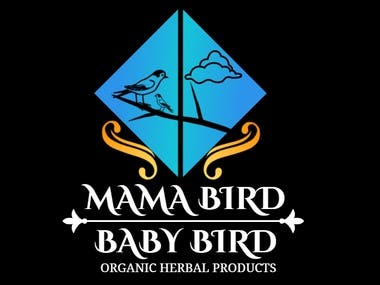 Mama Bird Baby Bird Logo