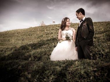 Wedding Photograph Color Graded