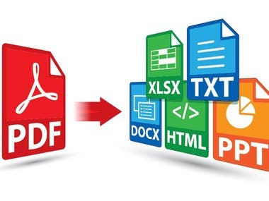 All Kind PDF conversion services (Word, Excel,Power Point)