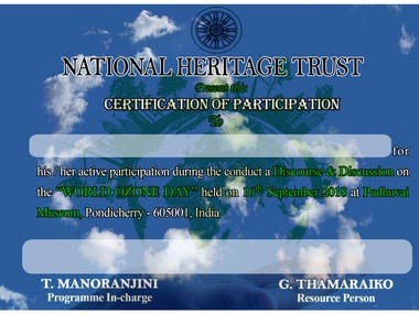 Certificate and Invitation Design, Data Entry