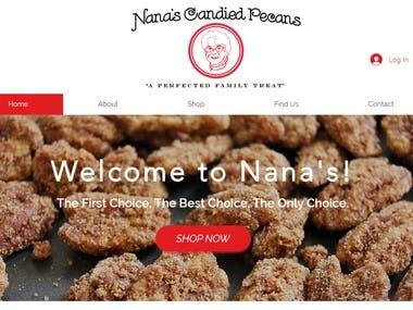 Web development - www.nanascandiedpecans.com