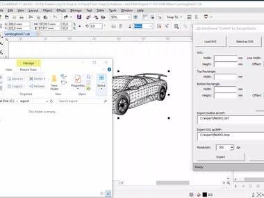 3D Wireframe Outliner
