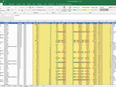 Data Entry Mircosoft Excel Advance Excel