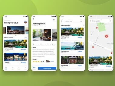 Hotel Booking App (Ionic framework)