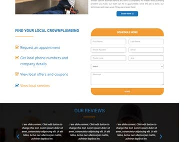 Plumber service website