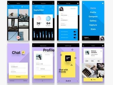 mobile app/admin/chat/gallery/profile/capture/status