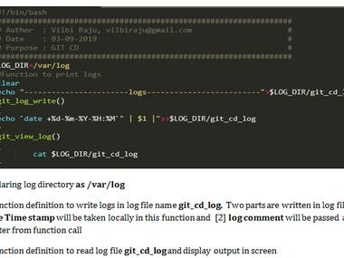 CI/CD automation script