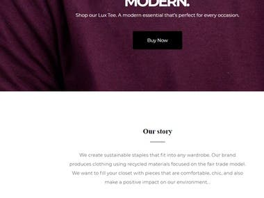 Give your customers a clear call to action with landing page