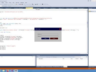 Desktop Application For Clinic management