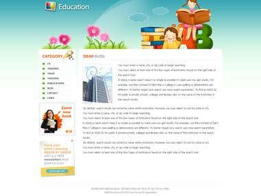 Web Design - Education Site