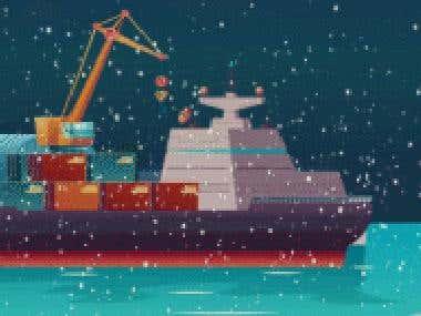 GIF animation for Christmas
