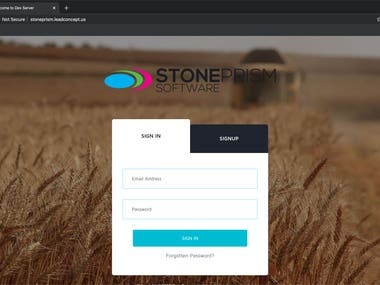 StonePrism Web Application