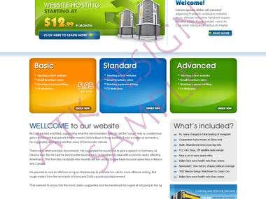 Web Design - Hosting Service