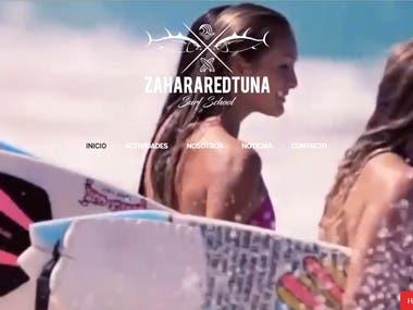 Diseño Web Pagina de Surf