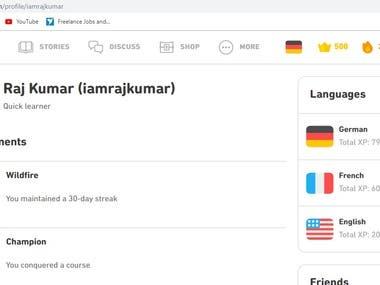 WORLD'S LONGEST STREAK ON DUOLINGO-ENGLISH GERMAN