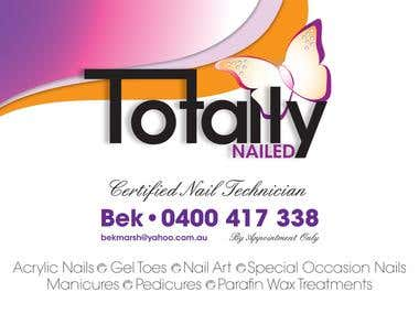 Totally Nailed Logo/Brochure/Business Cards