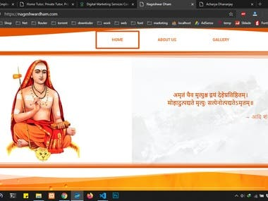 Website For Guruji.
