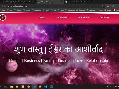 Website for Astrologer
