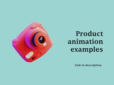 Product animation example