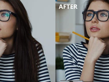 Glare Removal From Glasses