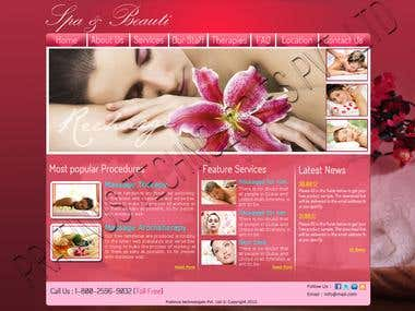 Website for the beauty and spa