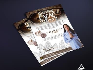 COCOA CEREMONY Flyer Design