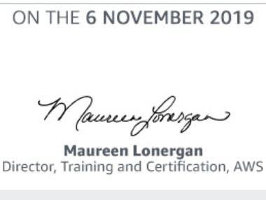 AWS attendance Certificate