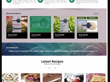 Website designed