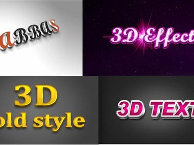 I can do 3d effect of your logo,text etc