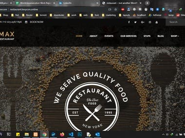 Restaurant Website Sample