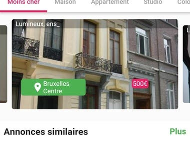 Application immobilier multiplate-forme